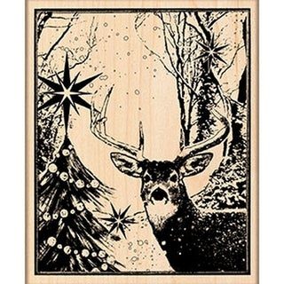 """Penny Black Mounted Rubber Stamp 3.5""""X4.25""""-Enchanted Forest"""