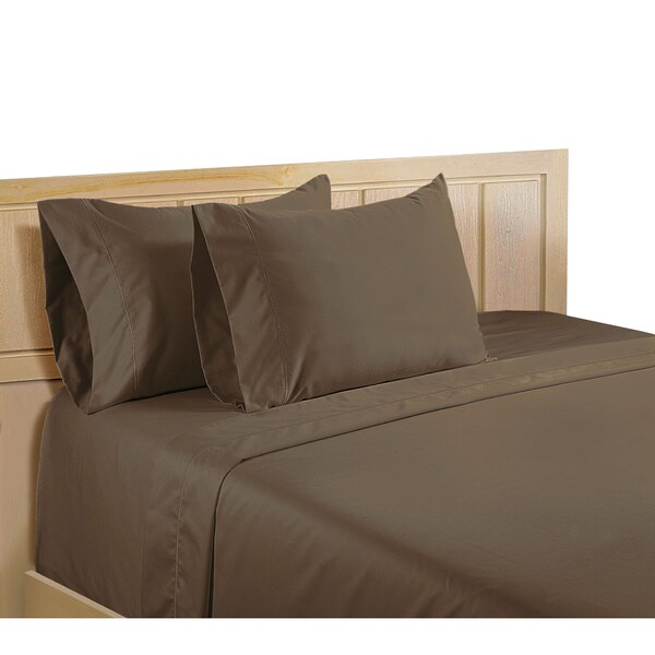 Color Sense The Complete Egyptian Cotton 600 Thread Count King Size Sheet Set in Ivory (As Is Item)