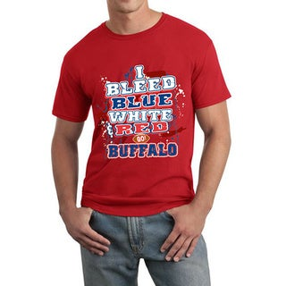Buffalo Football 'I Bleed Blue, White and Red, Go! Buffalo' T-shirt