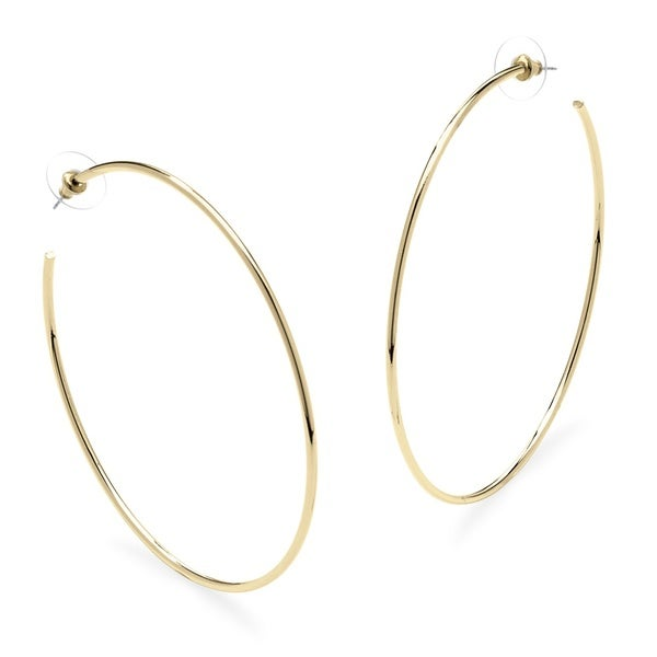 PalmBeach Bold Fashion 18k Gold-plated Hoops