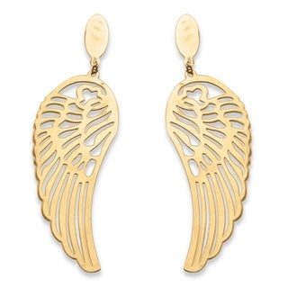 PalmBeach Wing Earrings in Gold Ion Plated Tailored
