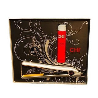 CHI Limited Edition 1-inch Diamond Ice Silver Iron with Hairspray and Perfume