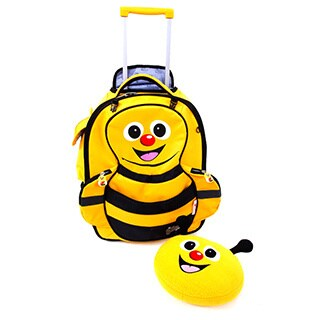 Cuties & Pals 'Cazbi Bee' Kids Soft Rolling Upright Backpack