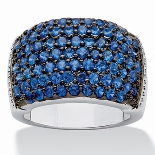 PalmBeach Blue Spinel Gemstone Cocktail Ring