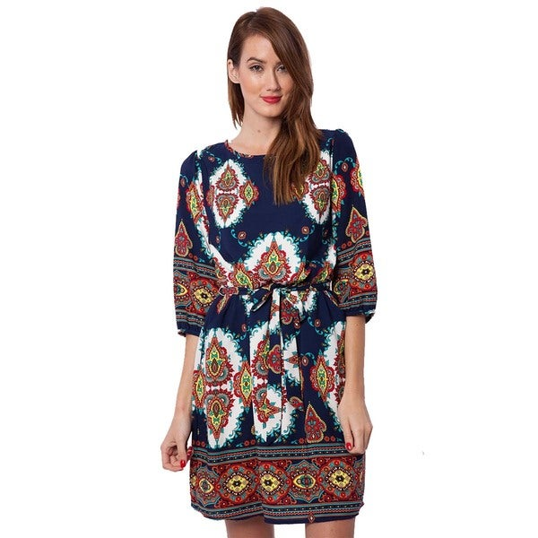 Peach Love CA Women's Printed Dress