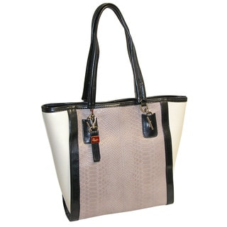 Buxton Hannah Pebbled Leather Tote with Coordinating Scarf