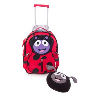 Cuties & Pals 'Polka Ladybug' Soft Rolling Upright Trolly