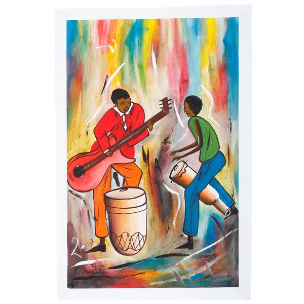 Modern Music in the Village Canvas Art (Malawi)
