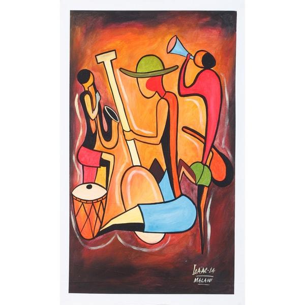 Musical Scene Village Canvas Art (Malawi)