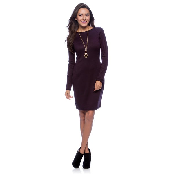 Marc NY Women's Long Sleeve Raglan Style Dress