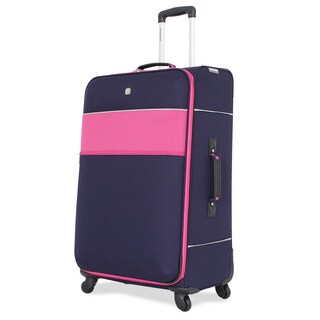 SwissGear Navy/Pink 28-inch Upright Spinner Suitcase