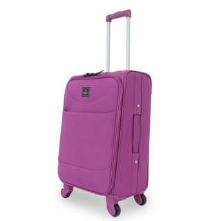 French West Indies Purple 20-inch Carry-On Spinner Upright Suitcase