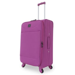 French West Indies Purple 24-inch Spinner Upright Suitcase