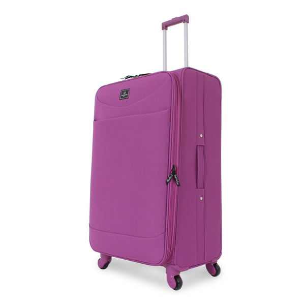 French West Indies Purple 28-inch Spinner Upright Suitcase
