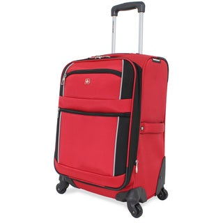 SwissGear Red/ Black Sport 20-inch Upright Spinner Suitcase