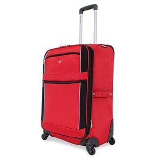 SwissGear Red/Black Sport 24-inch Upright Spinner Suitcase