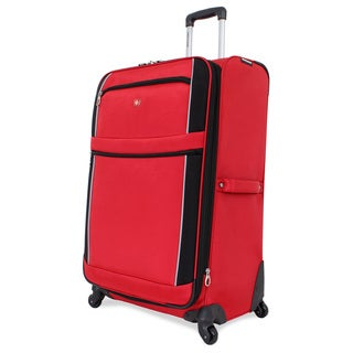 SwissGear Red/Black Sport 28-inch Upright Spinner Suitcase