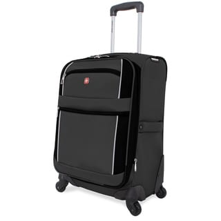 SwissGear Charcoal/Black 20-inch Carry On Upright Spinner Suitcase