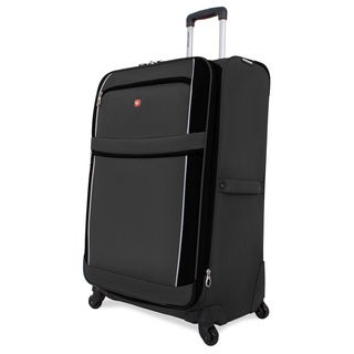 SwissGear Charcoal/Black 28-inch Upright Spinner Suitcase