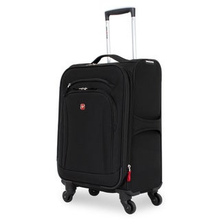 SwissGear Black 20-inch Carry On Upright Spinner Suitcase