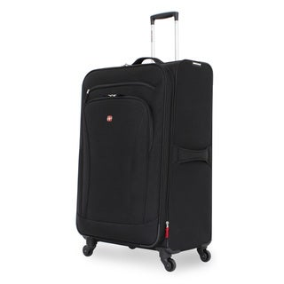 SwissGear Black 28-inch Upright Spinner Suitcase