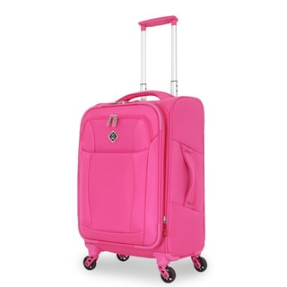 French West Indies Fuchsia 20-inch Lightweight Carry-On Spinner Upright
