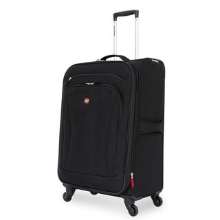SwissGear Black 24-inch Upright Spinner Suitcase