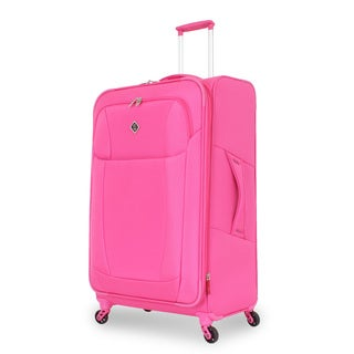 French West Indies Fuchsia 29-inch Lightweight Spinner Upright Suitcase