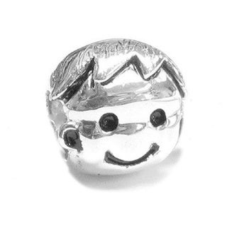 Queenberry Sterling Silver Cute Baby Boy European Bead Charm