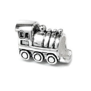 Queenberry Sterling Silver Choo Choo Train Engine Car European Bead Charm