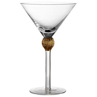 Fitz and Floyd Gold Medley 8.5-ounce Martini Glasses (Set of 4)