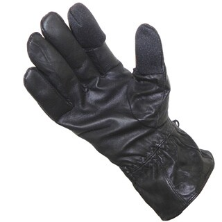 Freehands Women's Black Leather Texting Gloves