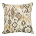 Odayle Ikat Gold/ Silver Down Fill Throw Pillow