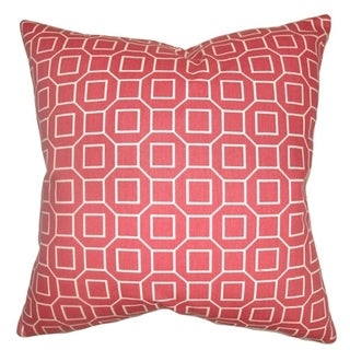 Zacheus Shapes Cranberry Down Fill Throw Pillow