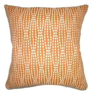 Udell Dot Down Fill Tangerine Throw Pillow