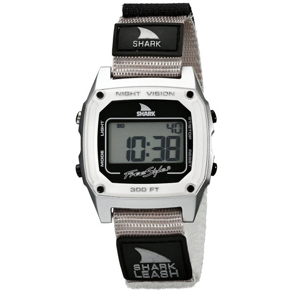 Freestyle Men's Shark Leash 102241 Silver Nylon Quartz Watch with Digital Dial