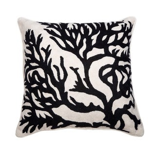 Hand Crewel Decorative 20-inch Pillow Cover