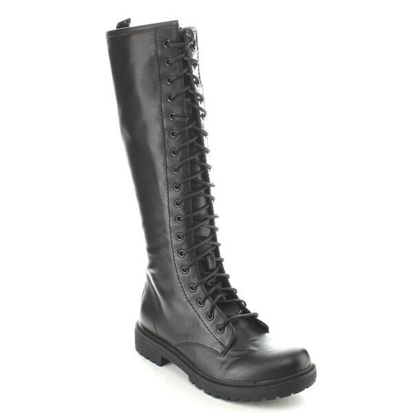 C-Label Women's 'Rosalyn-3A' Knee-high Lace-up Riding Boots