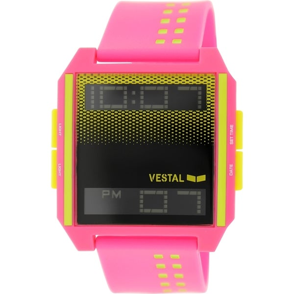 Vestal Women's Digichord DIG030 Pink Plastic Quartz Watch with Digital Dial