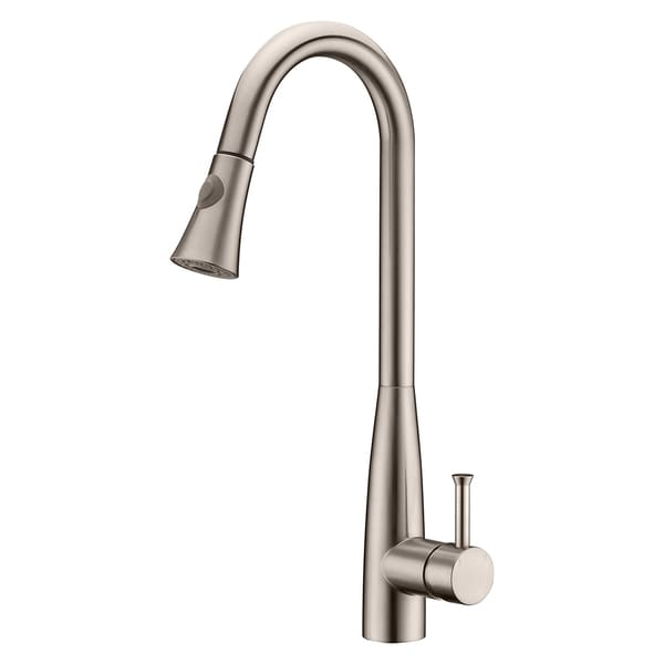 Brushed Nickel Kitchen Faucet : Fontaine Bianka Brushed Nickel 1-handle Pull-down Kitchen Faucet ...