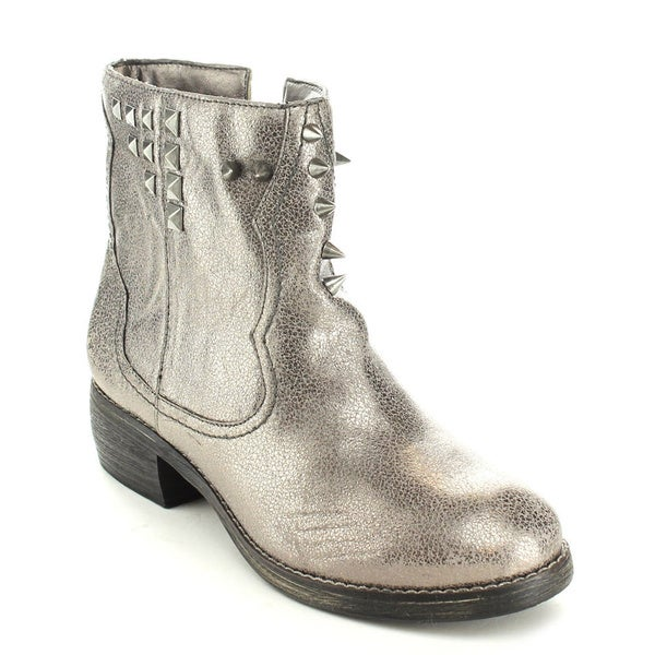 C-Label Women's 'Cathy-8A' Pewter Studded Ankle Booties