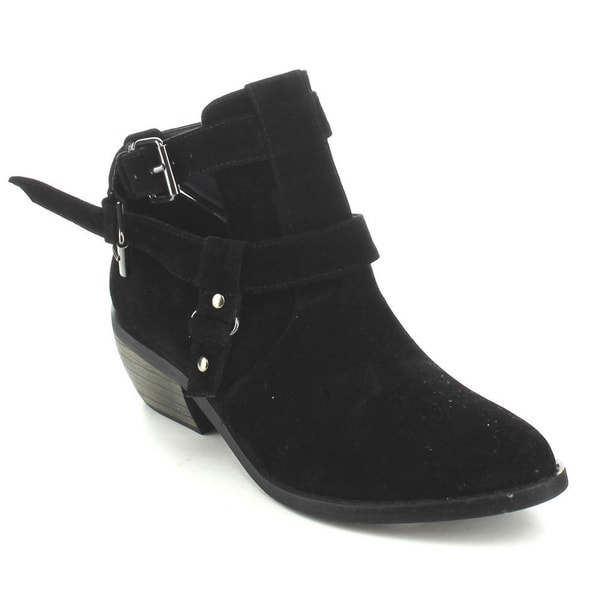 C-Label Women's 'Jack-5' Black Buckle Strap Ankle Booties
