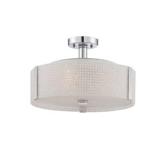 Lite Source 3-light Semi-flush Mount