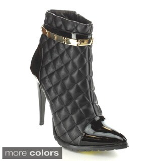 C-Label Women's 'Sharan-5' Quilted Stiletto Booties