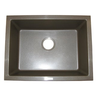Ukinox Modern Design Undermount Granite Single Bowl Sink