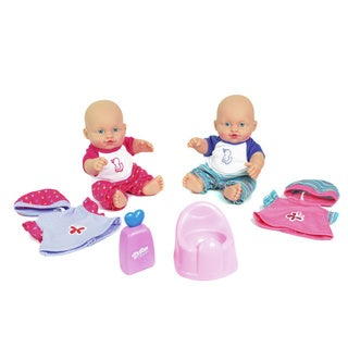 Twin Baby Dolls with Accessories