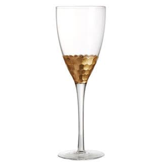 Daphne 11.8-ounce Gold Wine Glasses (Set of 4)
