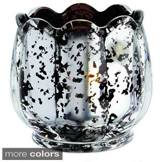 Flower Votive Black Candle Holder
