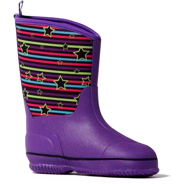 Muk Luks 'Girls Little Splashers' Purple Rain Boots