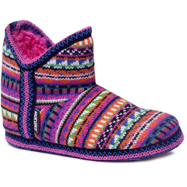 Muk Luks Girls 'Amira' Guate Fairisle Knit Slippers